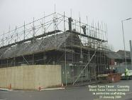 Black Swan Terrace with scaffold