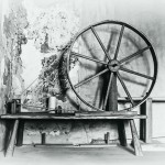 A spinning wheel.