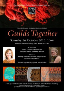 a poster for Guilds Together event