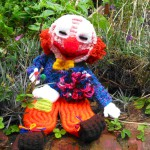 Colourful woven clown