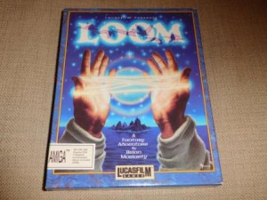 Game box illustration of hands linked with illuminated thread