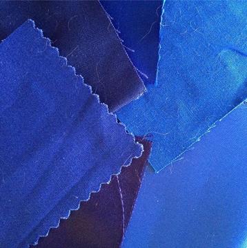 selection of blue fabrics