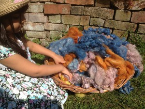 playing with wool