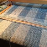 The weaving on the loom