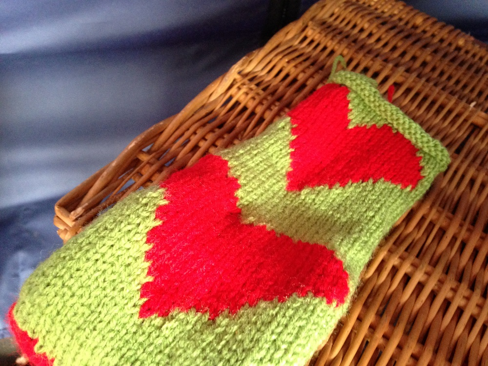 Knitted Hearts Pattern The Weavers House