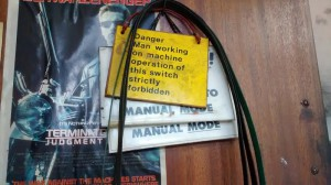 Danger Man working sign and Terminator 2 poster
