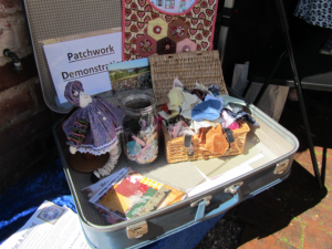 patchworked items in a display