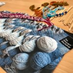 wool, weaving sticks and leaflets for Weavers' Workshop