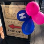 blue and pink heritage open days balloons