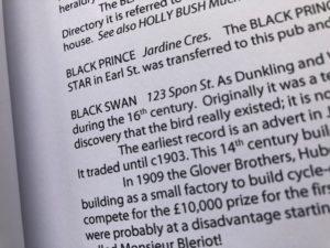 text including caption BLACK SWAN