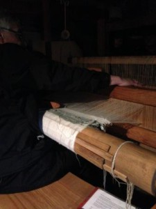 Adrian demonstrating the replica loom