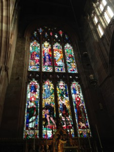 Stained glass in the East Window