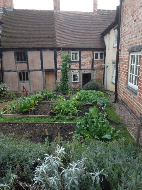 Garden at the back of the Weavers's house.