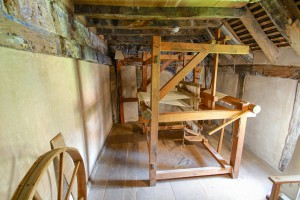 The large wooden replica loom.
