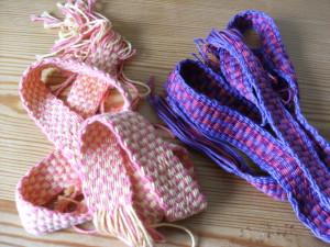 Flat braided wool