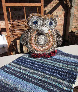 Cuddly woven brown owl