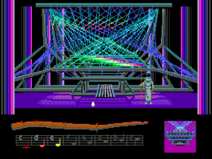 screenshot of 90s computer game of a loom