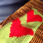 Knitted hearts pattern