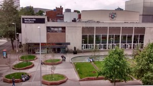 the theatre opposite and plaza