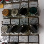 rows of heavy duty buttons