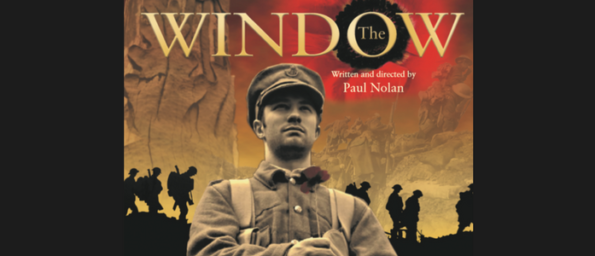 The Window title over a sepia tinted image of young man in WW1 uniform