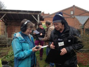 BBC interviewing a volunteer