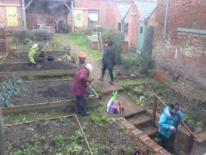 Volunteers in the garden