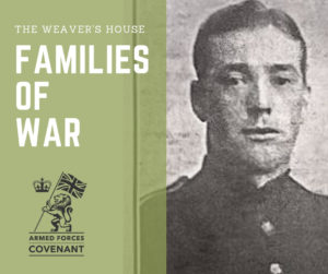 Families of War, old photo of a male soldier of WW1 captioned Private O'Neil