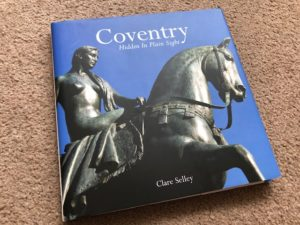 cover Coventry Hidden in Plain Sight - Lady Godiva statue on blue background