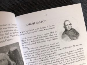 a page of text titled Joseph Paxton