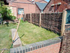 a freshly cut lawn